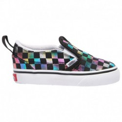 Vans Classic Slip On Matte Iridescent Vans Classic Slip On - Girls' Toddler Black/true White | Iridescent Check
