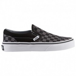 vans classic slip on black pewter checkerboard vans classic slip on checkerboard black pewter vans classic slip on boys prescho