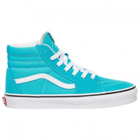 Baby Blue Sk8 Hi Vans Sk8-Hi - Boys' Preschool Scuba Blue/True White