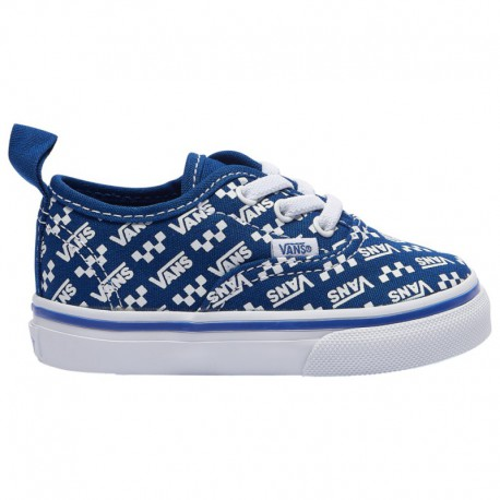 Vans Authentic Elastic Lace Vans Authentic Elastic Lace - Boys' Toddler Blue/White | Repeat Logo