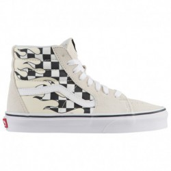 vans checker flame sk8 hi vans classic sk8 hi white vans sk8 hi boys grade school classic white true white checker flame
