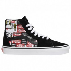 vans mix match sk8 hi vans mix checker sk8 hi vans sk8 hi boys grade school multi red white label mix