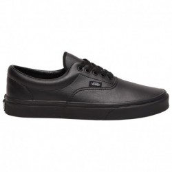 vans era black leather black leather vans era vans era men s black black leather