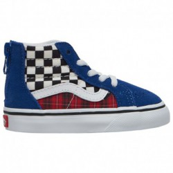 Vans Toddler Sk8 Hi Zip Mte Vans Sk8-Hi - Boys' Toddler True Blue/Racing Red | Plaid Checkerboard