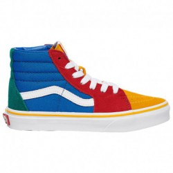 Vans Peanuts Sk8 Hi Yellow Vans Sk8-Hi - Boys' Preschool Red/Blue/Yellow