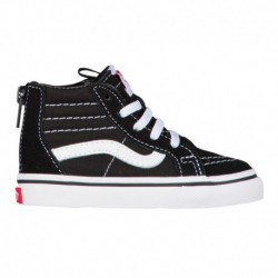 All White Sk8 Hi Vans Sk8-Hi - Boys' Toddler Black/True White