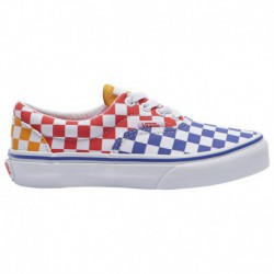 Vans Era Blue White Vans Era - Boys' Preschool White/Blue/Red | Multicheck