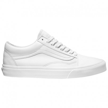Vans Old Skool Premium Leather True White Vans Old Skool - Men's True White | Tumbled Leather