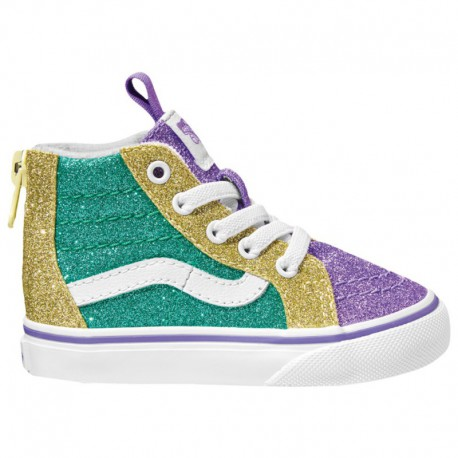 Green Van Sk8 Hi Vans Sk8-Hi - Boys' Toddler Green/Purple/Gold