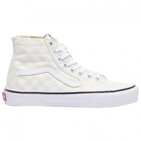 Vans Canvas Sk8 Hi True White Shoes Vans Sk8-Hi Tapered - Women's White/True White | Checkerboard