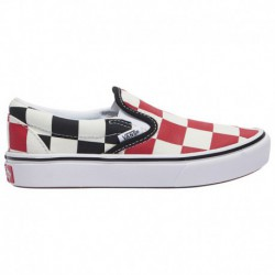 Vans Comfycush Black Slip On Vans Comfycush Slip-On - Boys' Preschool Red/Black | Big Checker