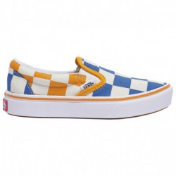 comfycush slip on vans slip on vans comfycush vans comfycush slip on boys preschool true blue cadmium yellow big checker