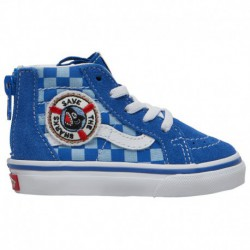 All Blue Sk8 Hi Vans Vans Sk8-Hi - Boys' Toddler Blue/True White | Shark Week