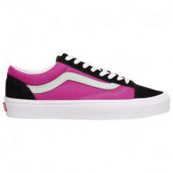Women's Old Skool Stacked Black White Vans Dnu Duplicate Old Skool - Women's Black/Fuschia/Green