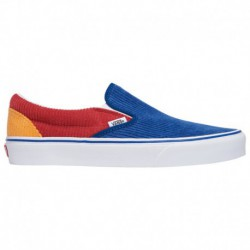 cheap vans shoes slip ons cheap womens slip on vans vans classic slip on boys grade school blue red yellow corduroy