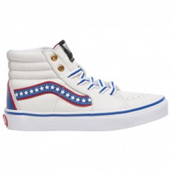 Red Sk8 Hi Vans Outfit Vans Sk8-Hi - Boys' Preschool True White/Racing Red/Blue | Americana