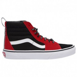 Red And Black Sk8 Hi Vans Sk8-Hi - Boys' Grade School Red/Black/True White | Otw Webbing