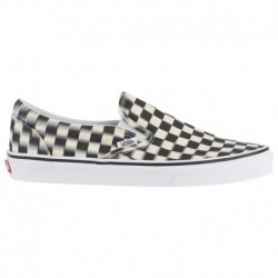 vans classic slip on blur check vans classic slip on woven check vans classic slip on men s black white blur check