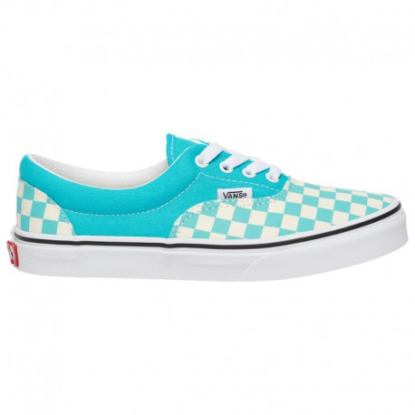 Vans Era True White Gum Vans Era - Boys' Grade School Scuba Blue/True White | Checkerboard