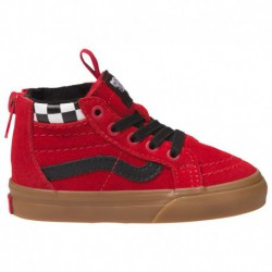 Cheapest Place To Buy Vans Shoes Online Vans Sk8 Hi - Boys' Toddler Checker Red | 61-60468-3-04