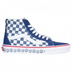 Vans Sk8 Hi Navy White Vans Sk8 Hi - Boys' Grade School Navy/White/Red | 65-75209 0 4