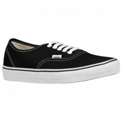 Vans Authentic Shoes Black White Vans Authentic - Men's Black/White | 45-20036-8-04