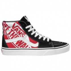 Vans Sk8 Hi PRO Black White Red Vans Sk8 Hi - Boys' Grade School Black/Red/White | 65-75173-8-04