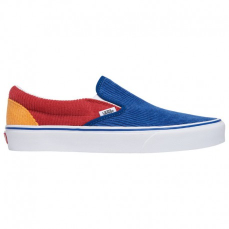 Vans Classic Slip On Red Vans Classic Slip On - Men's Blue/Red/Orange | Corduroy