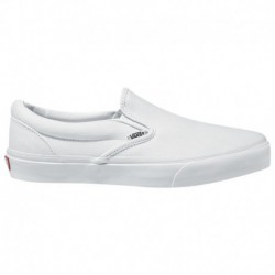 Plain White Vans Slip On Vans Slip On - Boys' Grade School White/White | 65-79770-7-04