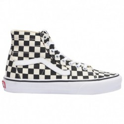 Vans Checkerboard Sk8 Hi Tapered Vans Sk8-Hi Tapered - Women's Black/True White | Checkerboard