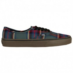 Vans Authentic Leather Black Plaid Vans Authentic - Women's Plaid/Black/Multi | 55-52362 0 2