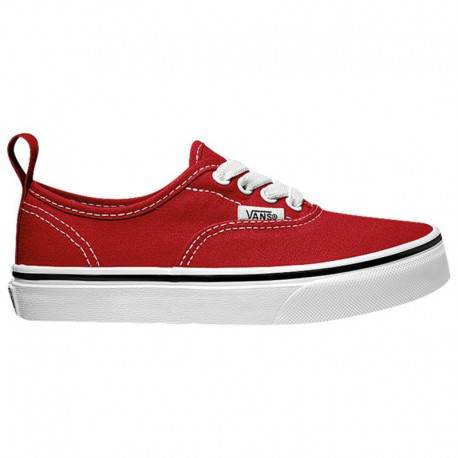 Vans Authentic Red And Black Vans Authentic - Boys' Grade School Black/Red/White | 65-79772-3-04