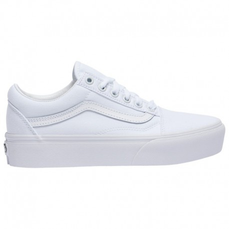 White Platform Vans Old Skool Vans Old Skool Platform - Women's White/White