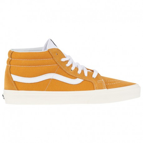 Vans MID Year Clearance Sale Vans Sk8 Mid - Men's Yellow/White | 45-20040 0 4