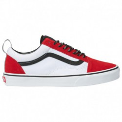 Red Old Skool Vans Sale Vans Old Skool - Men's Red/Grey/White | 45-20119-2-04