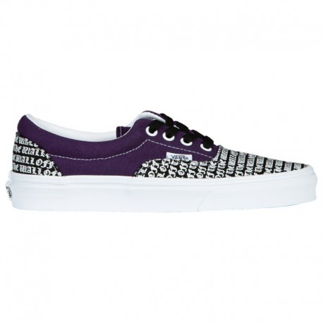 Vans Era Checkerboard Purple Vans Era - Boys' Grade School Black/Purple/White | 65-75479-9-04