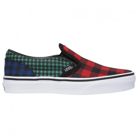 Vans Classic Slip On Abstract Multi Exclusive Vans Classic Slip On - Boys' Preschool Multi | What The Buffalo/Plaid