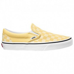 Light Yellow Vans Slip On Vans Slip On - Women's Yellow/White | 55-50176-6-02