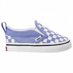 Vans Slip On Lilac & Snow White Checkerboard Skate Shoes Vans Slip On - Girls' Toddler Lilac/White | 61-60826-2-04