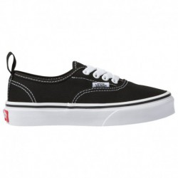 Authentic Black White Vans Vans Authentic Elastic - Boys' Preschool Black/White | 64-85435 0 4