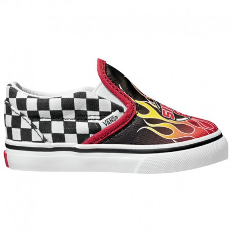 Checker Vans Slip On Vans Slip On V - Boys' Toddler Checker/Red | 61-60470-9-04