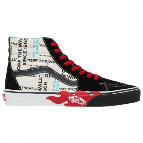 Vans Sk8 Hi White Flame Vans Sk8 Hi - Men's White/Black/Red | Off The Wall Flame