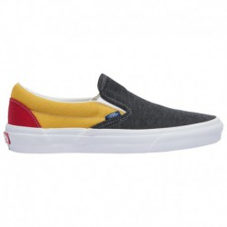 vans classic slip on gray vans classic slip on womens gray vans classic slip on boys grade school gray yellow red coastal