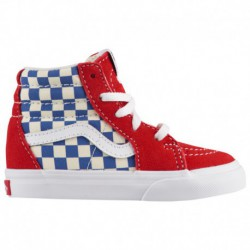 vans checkerboard sk8 hi pro vans super sk8 hi checkerboard vans sk8 hi boys toddler true blue red bmx checkerboard