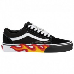 vans old skool flame cut out vans old skool flame cut vans old skool boys grade school flame cut out black true white