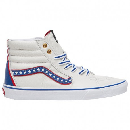 Vans Sk8 Hi Racing Red True White Vans Sk8 Hi - Men's True White/Racing Red