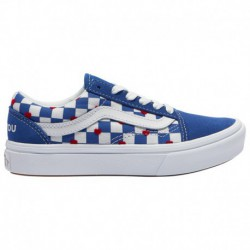 Vans Comfycush Old Skool Distort Vans Comfycush Old Skool - Boys' Preschool Blue/White/Red