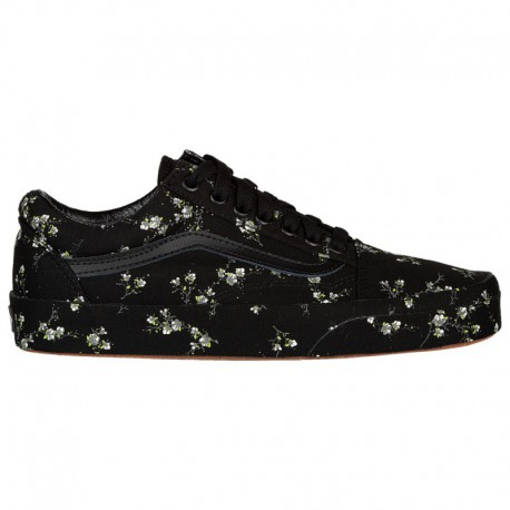 Mens Black Old Skool Vans Sale Vans Old Skool - Women's Black/Black | Midnight Floral
