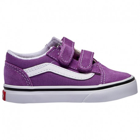 Vans Old Skool Black Girls Vans Old Skool - Girls' Toddler Dewberry/True White