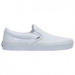 Vans Checkerboard Classic Slip On True White Shoes Vans Checkerboard Classic Slip On - Men's True White/True White